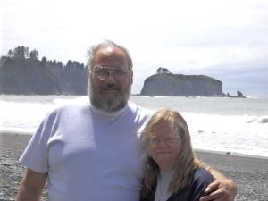 My wife and I on Washington coast