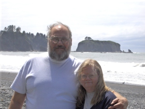 My wife and I on Washington coast
