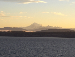 Mt Baker as seen from North Puget Sound