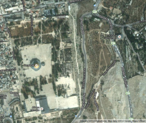 Aerial View of Temple Mount, Jerusalem, Israel – Google Maps