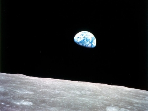 "Entitled ""Earthrise,"" it was taken by astronaut William Anders during an orbit of the moon as part of the Apollo 8 mission. - NASA"