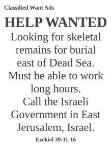Want Ads Ezekiel 39:11-16