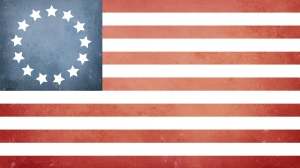 Early American flag with 13 stars for the 13 states