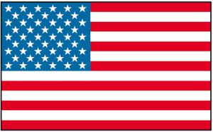 Modern American flag with 50 stars for all 50 states